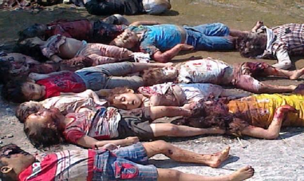 Syria reels kill Christian children