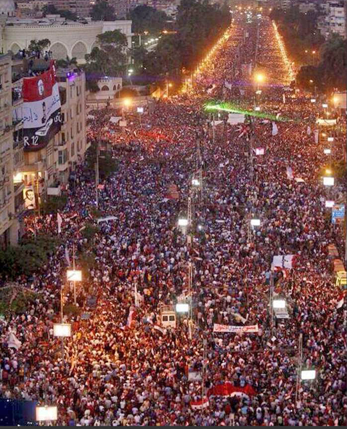 Streets of cairo agnst Morsi 06302012