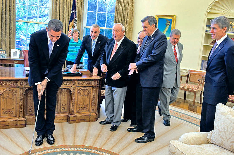 Golf in the oval office