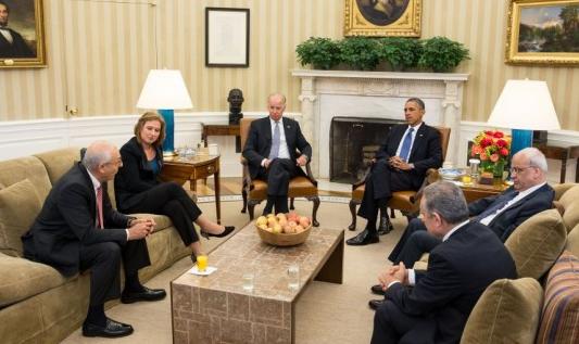 Negotiators in the oval 07302013