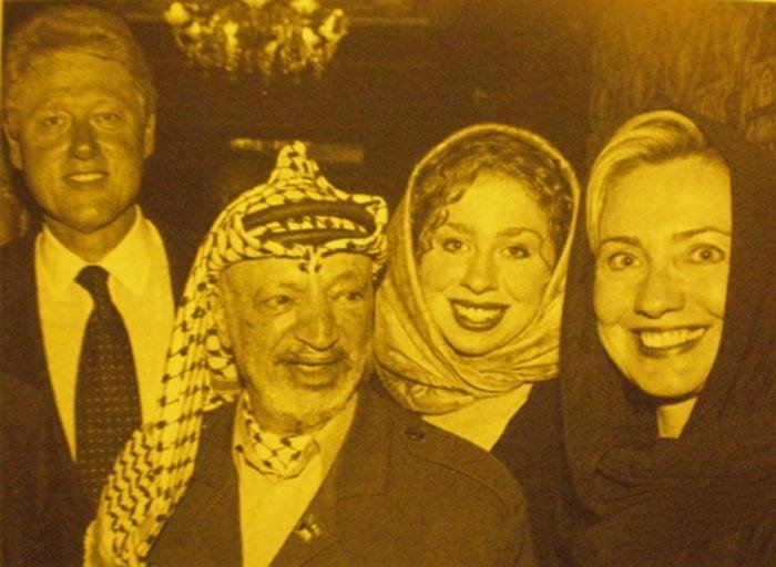 Clintons w arafat