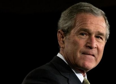 Bush pauses