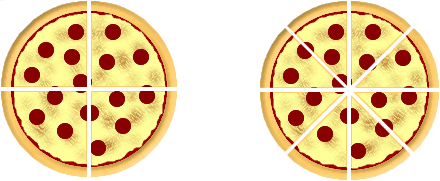 Pizza fraction action