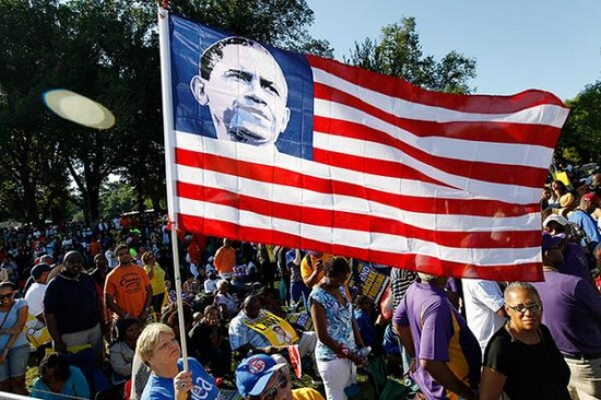 MLK march 08242013 FLAG