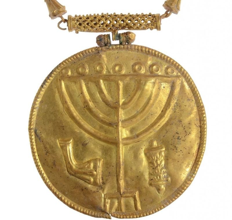 Byzantine menorah medallion