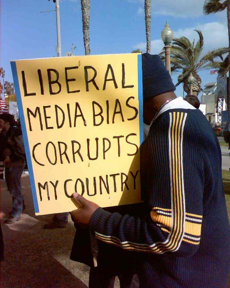 Liberal media bias corrupts