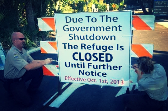 Shutdown signs