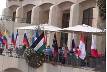 Pal flag at Jlem hotel