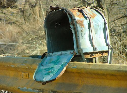 Mailbox old rusty