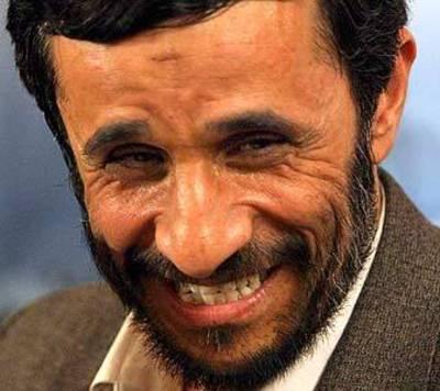 Ahmadinejad_laughing
